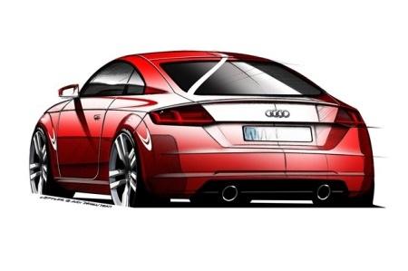 Phác họa xe Audi TT thế hệ mới